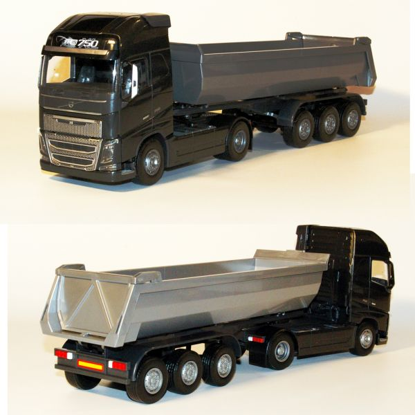 Volvo FH (New) 2-As Zwart met Grijze 3-As Kieper