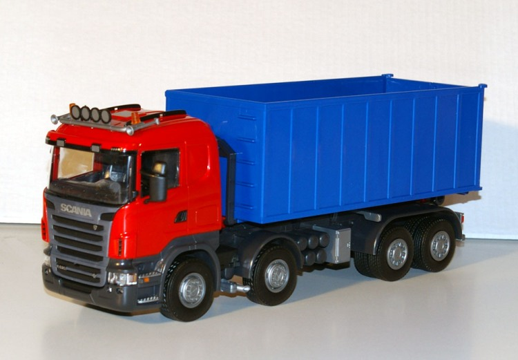 Scania R (2-2) met Afzetcontainer groot - Rood