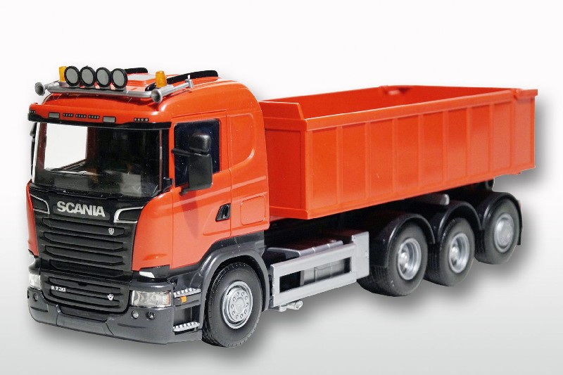 Scania R met Afzetcontainer Klein - Rood