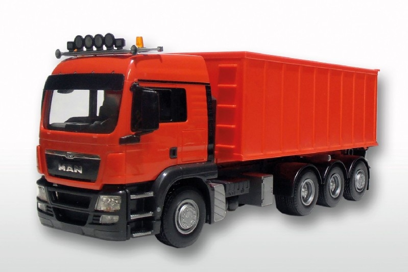 MAN TGS LX met Afzetcontainer groot - Rood